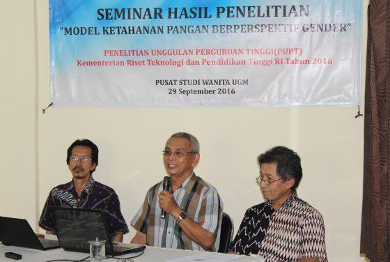 Seminar hAsil Penelitian Model Ketahanan Pangan Berperspektif Gender