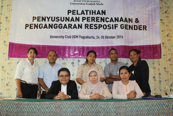Pelatihan penyusunan Perencanaan dan penganggaran responsif Gneder (PPRG) 2016